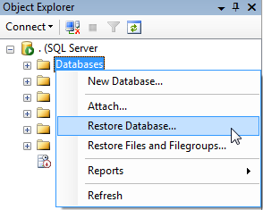 How to restore database in SQL Server 2008 R2 from  bak file