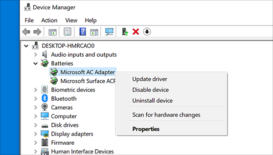 Device Manager - Reinstall the Driver
