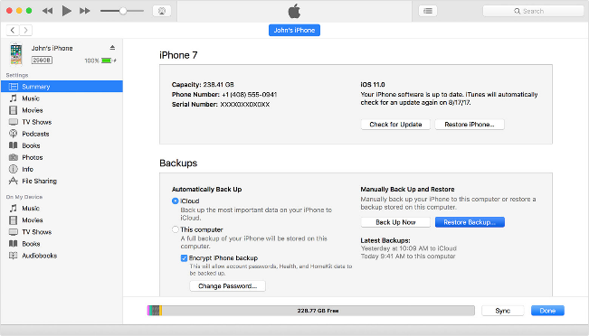restore iPhone data from iCloud backup