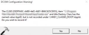 Solved: 'Class not registered' error on Windows 10 - Stellar