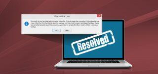 Access database error microsoft access detected corruption