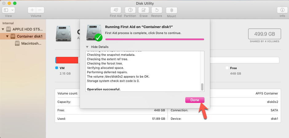 Repair your macOS Mojave 10 14 Start-up Drive