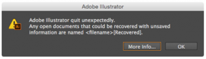 Steps to save the recovered Illustrator file