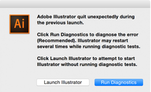 Run Diagnostics Adobe illustrator