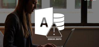 Access Database Error 29072