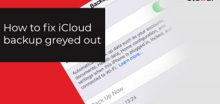 iCloud backup greyed out