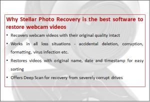 webcam recovery