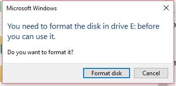 Format RAW Hard Drive