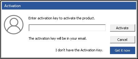 Enter activation key & Click Activate