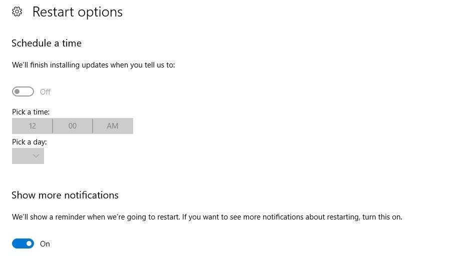 Choose the time when you want to install the apps and turn on 'Notifications'