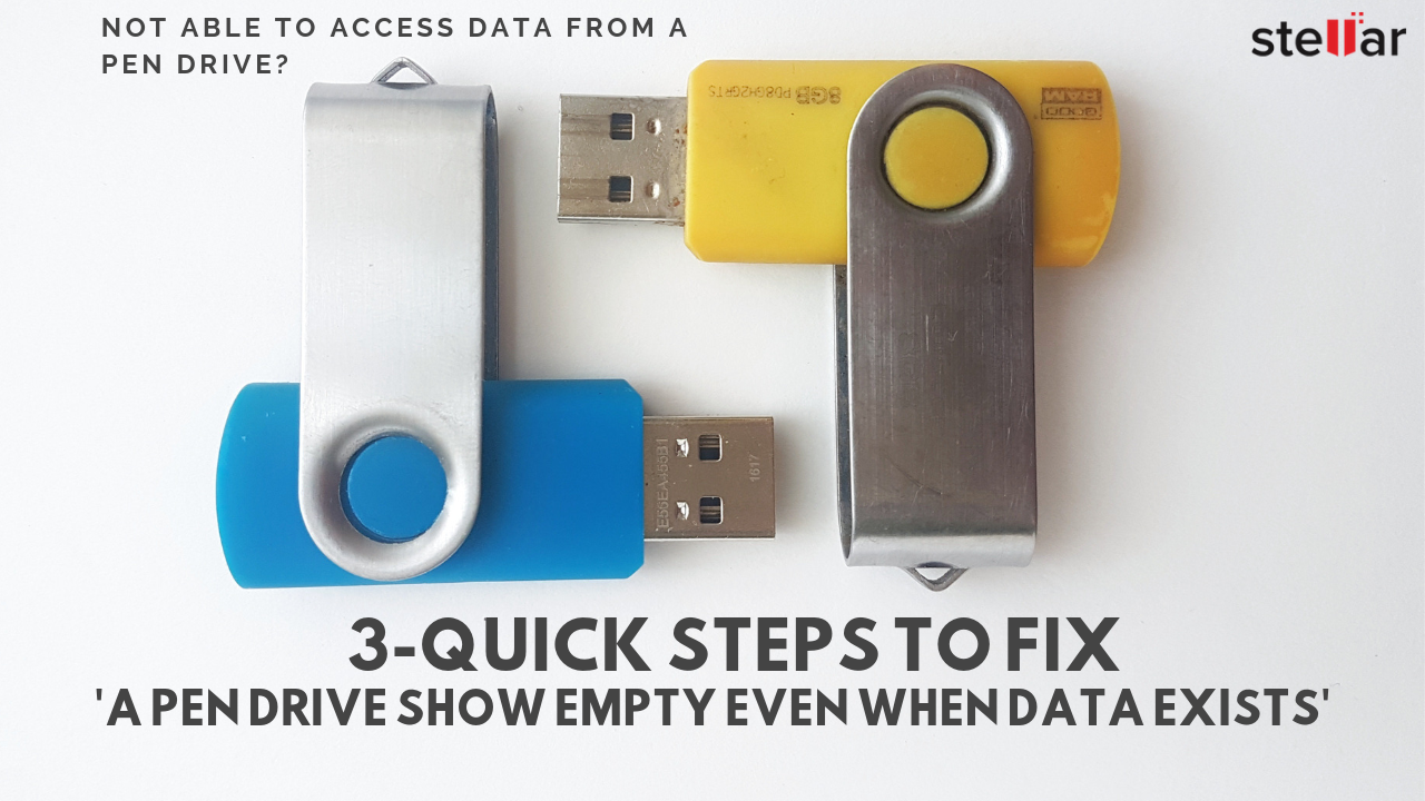 Not able to access data from Pen Drive