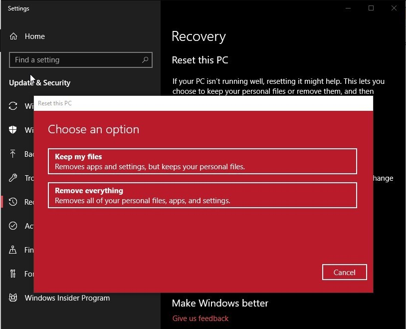 How to Reset Your Windows 10 PC and Keep Your Files