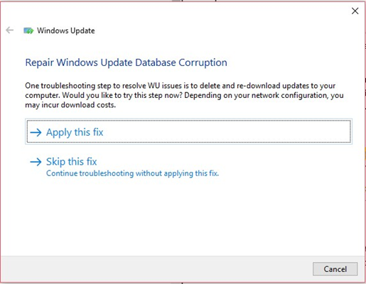 Apply fixes suggested by Windows update troubleshooter to fix error 0x800705b4