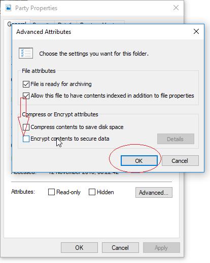 Zaawansowany atrybut systemu Windows - szyfruj zawartość w celu zabezpieczenia danych