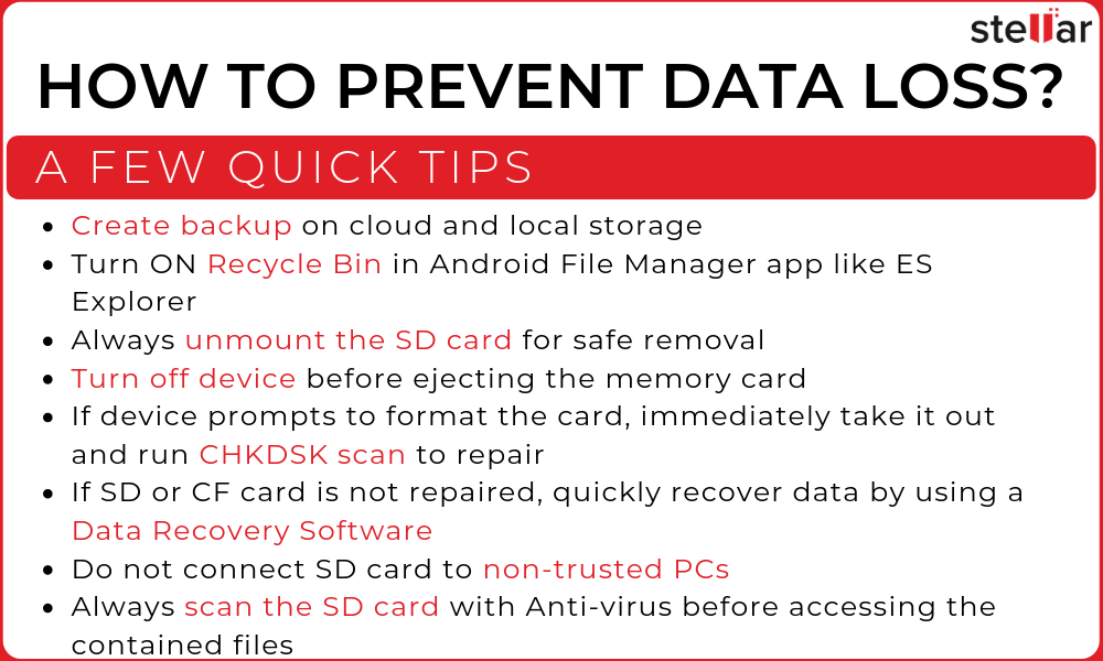 HOW TO PREVENT DATA LOSS_