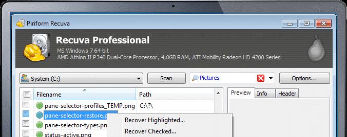 Recuva USB Data Recovery Software