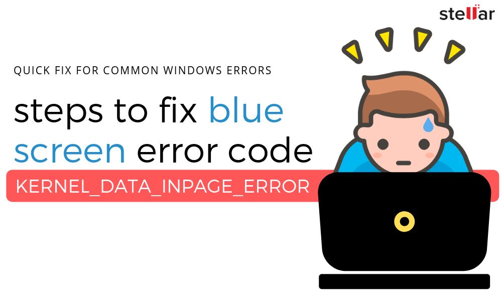 kernel data inpage error ntfs.sys windows 8