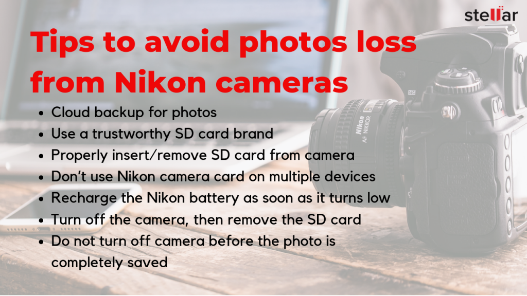 tips to avoid photos loss from nikon cameras