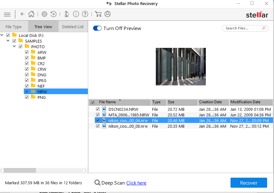 Stellar Photo Recovery - See the Preview Your Recovered Nikon Photos