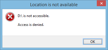 Hard Drive is not accessible. Access is denied