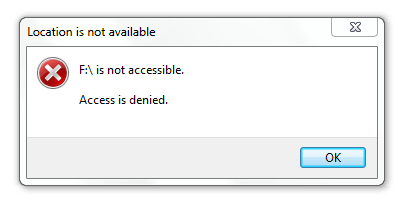 F drive is not accessible windows 7.