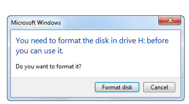 You Need to Format the Disk Before using it