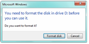 SD card ask to Format in windows