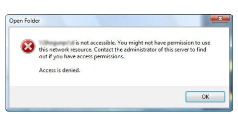 Shared Partitions Are Not Accessible