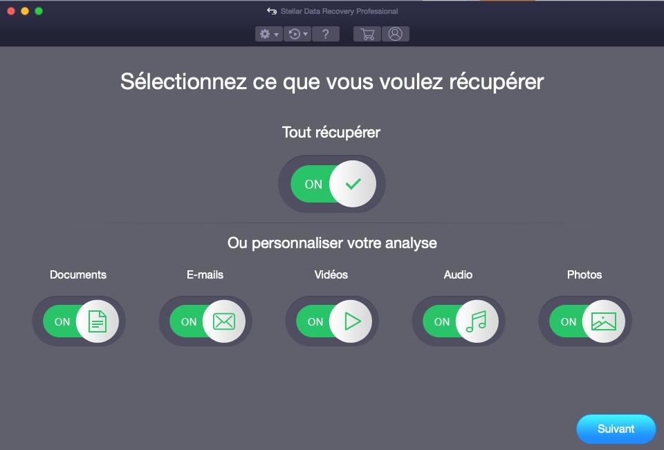 activation de récupération de données mac