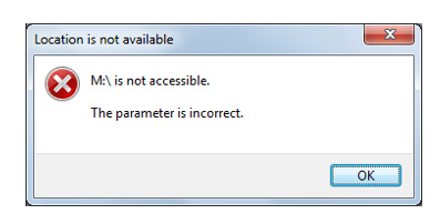 parameter is incorrect