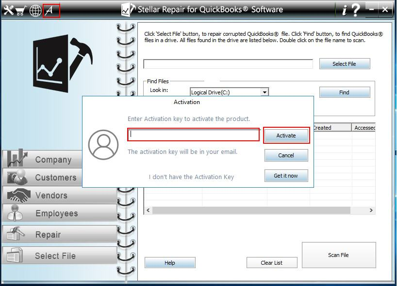 How to get Activation key of Stellar Repair for QuickBooks