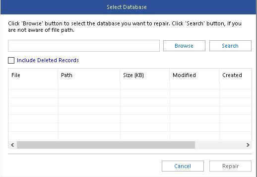 select corrupt sql database file