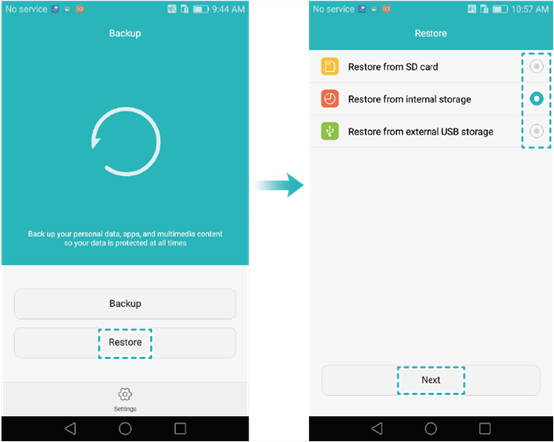 restore photos from Huawei Phone Backup