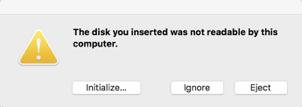 Mac hard drive initialize