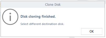 Clone Process finished