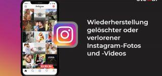 Wiederherstellung gelöschter oder verlorener Instagram-Fotos und -Videos