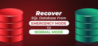 SQL database from emergency mode to normal mode