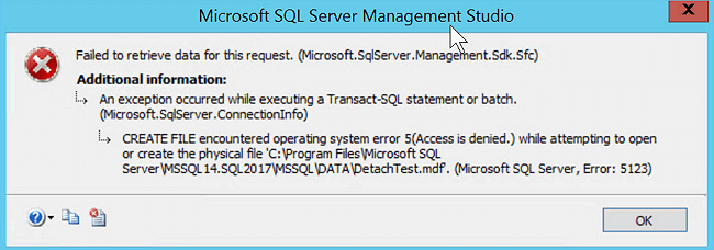 How to Fix SQL Server 2008 R2 Database Error 5123?