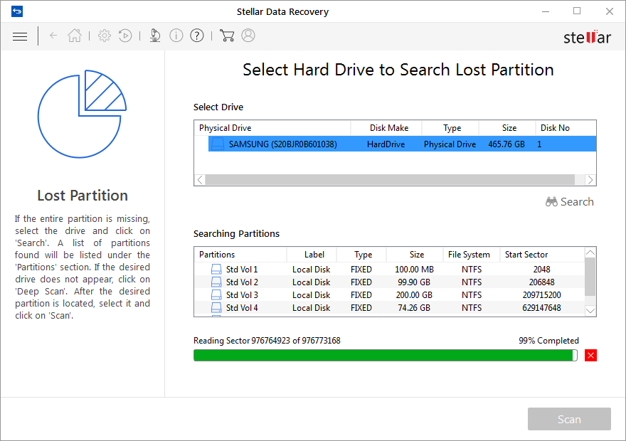 Found Deleted and Missing Partitions on USB Drive