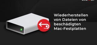 Wiederherstellen von Dateien von beschädigten Mac-Festplatten
