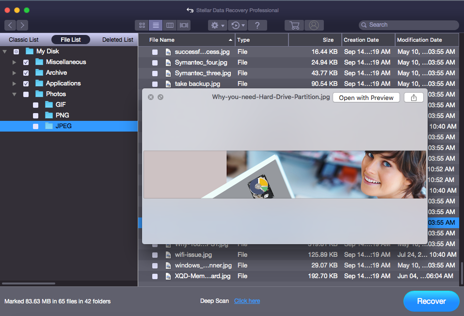 Repair Mac APFS or HFS External Hard Drive and Recover Data