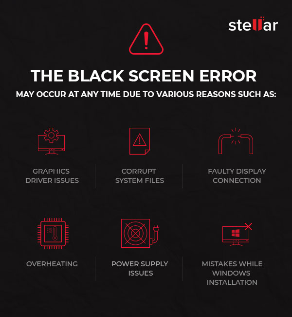 How to Fix Black Screen Errors in Windows Without Data Loss
