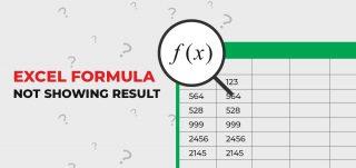 excel formula not showing result