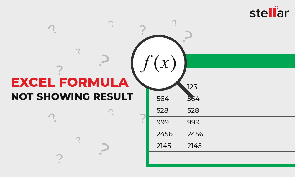 Fixed] Excel formula not showing result