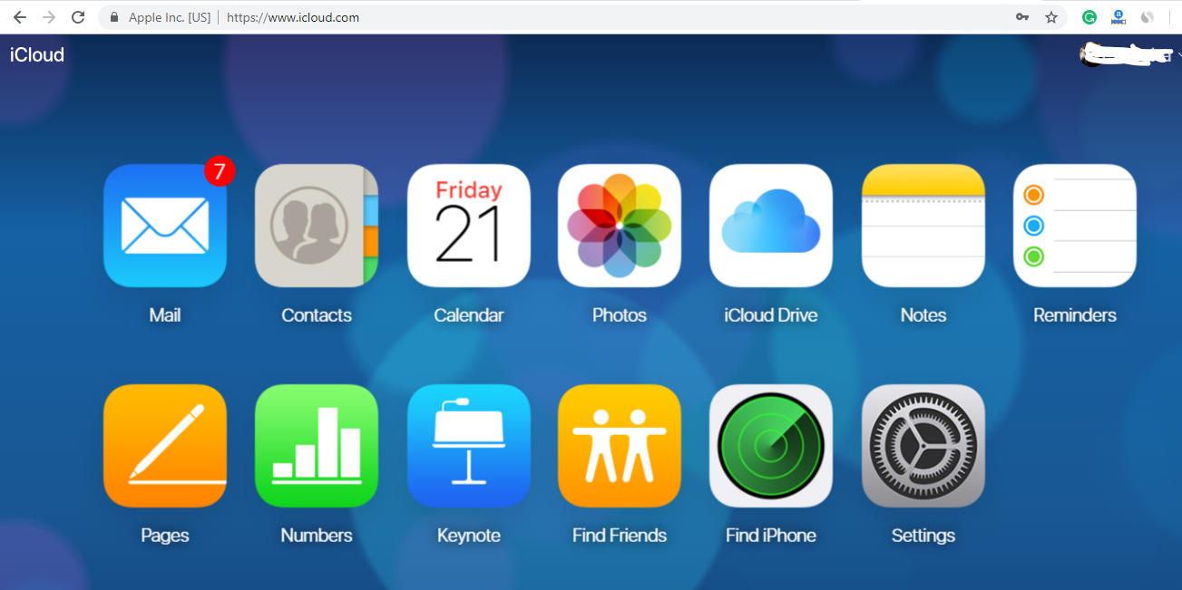 iCloud recovery