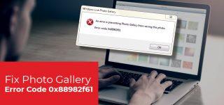 Windows Live Photo Gallery Error Code 0x88982f61