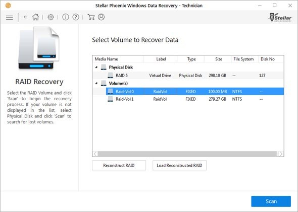 scan-lost-partition-RAID volume-data