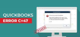 QuickBooks Error C=47