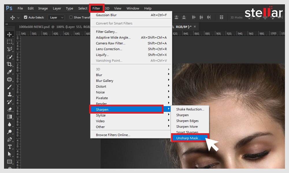 Remove blur with Unsharp Mask