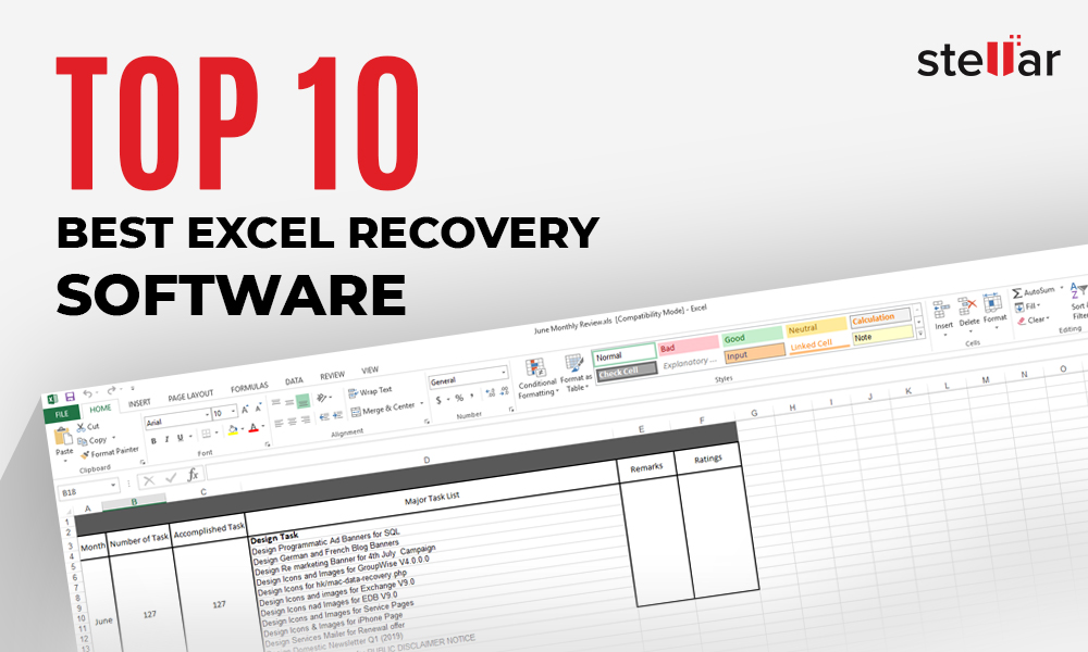 Top 10 Best Excel Recovery Software